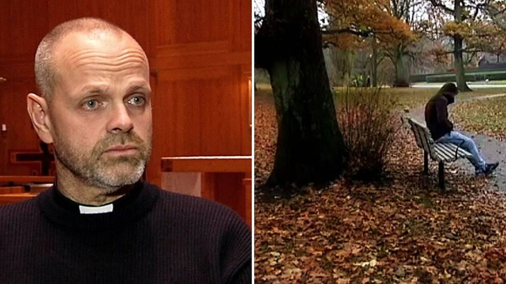 Henrik Törnqvist, kyrkoherde i Bergsjön tycker att samhället har hårdnat.