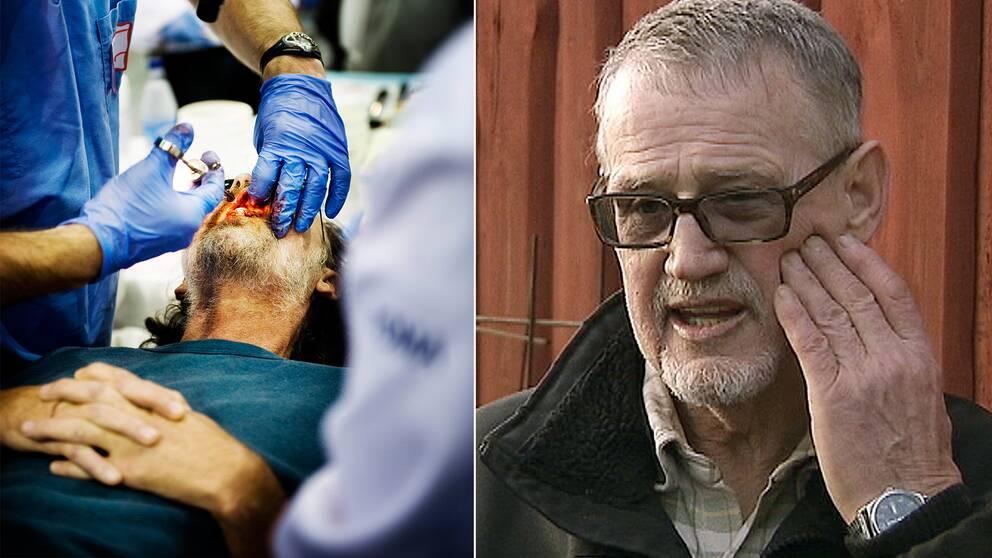 Tandläkaren hade missbruksproblem men fick fortsätta ta emot patienter, avslöjar Sveriges radio P4 Väst. Nu har över hundra personer anmält omfattande tandproblem. En av dem är Kent Larsson, 71.