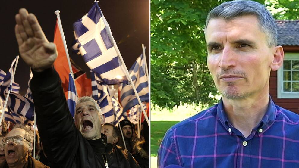 Journalisten Niko Agos har granskat nazistpartiet Gyllene Gryning i flera års tid.