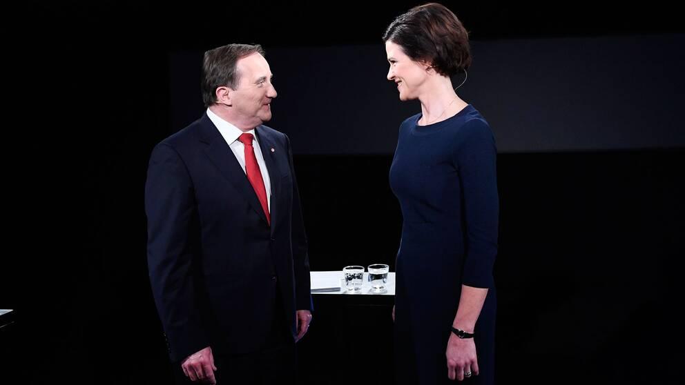Statsminister Stefan Löfven mötte under torsdagskvällen moderatledaren Anna Kinberg Batra i en debatt.
