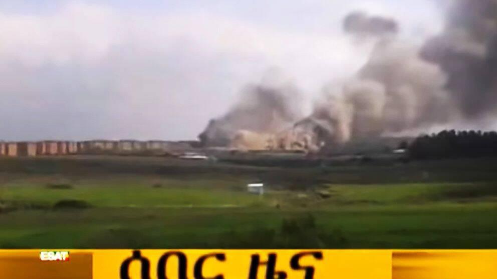 Kilintofängelset där Fikru Maru har suttit fängslat brinner, bilden är från den 3:e september.