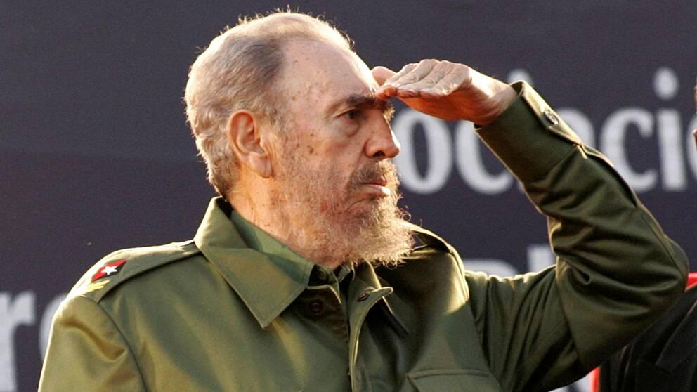 Fidel Castro på besök i Argentina 2006.