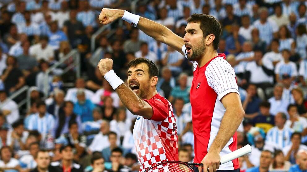 Marin Cilic och Ivan Dodig fick jubla.