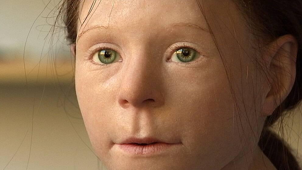 Den så kallade birkaflickan fick sitt ansikte återskapat av restauratörer på Historiska museet 2011.