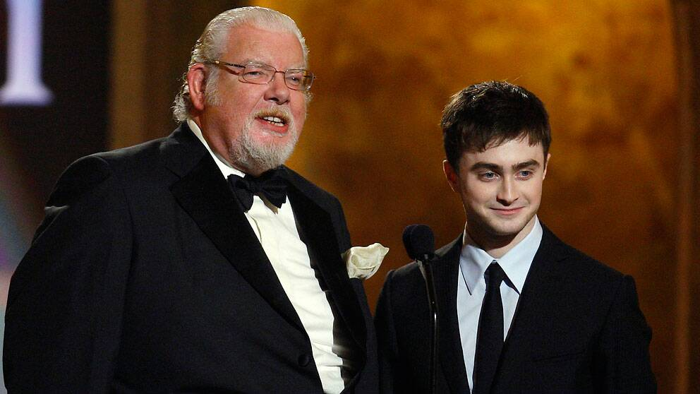 Richard Griffiths och Daniel Radcliffe prisas vid Tony Awards 2008 för en av Harry Potter-filmerna