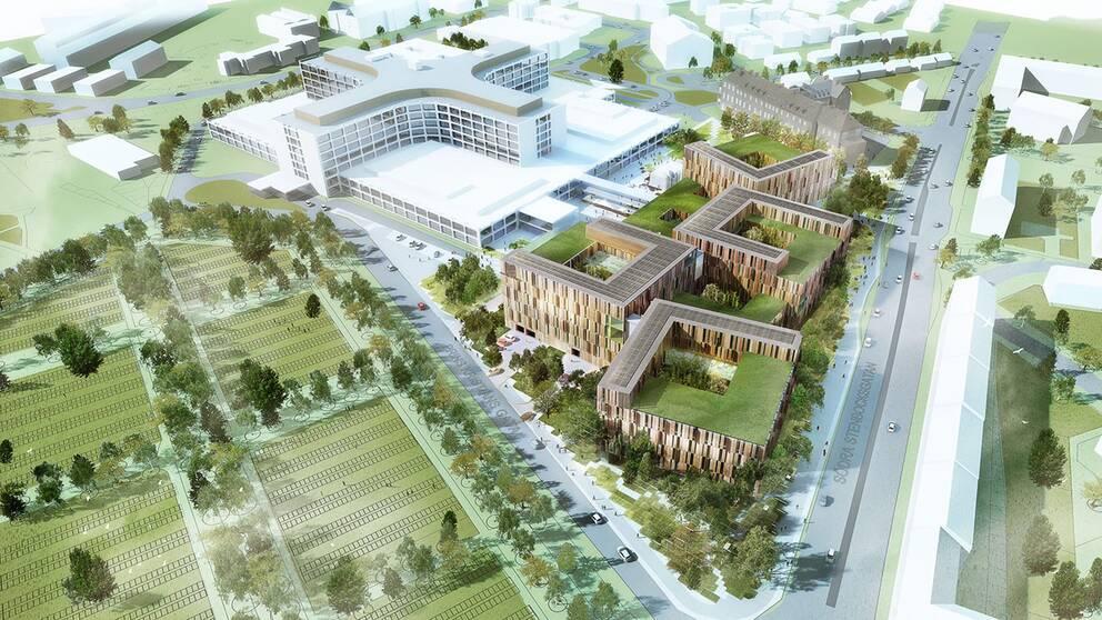 Utbyggnaden av Helsingborgs lasarett.