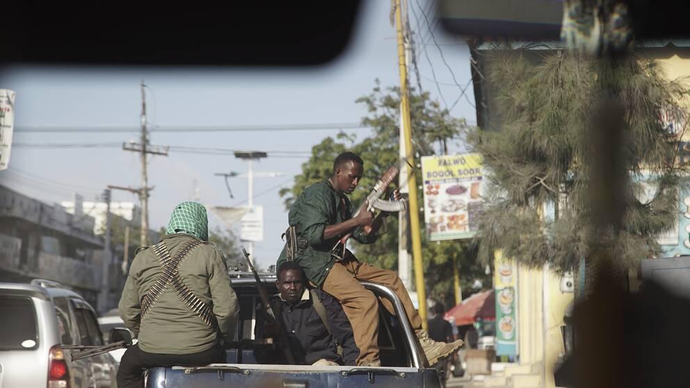Iman säger att det är tack vare regeringssoldaterna som somalier återvänder till landet.