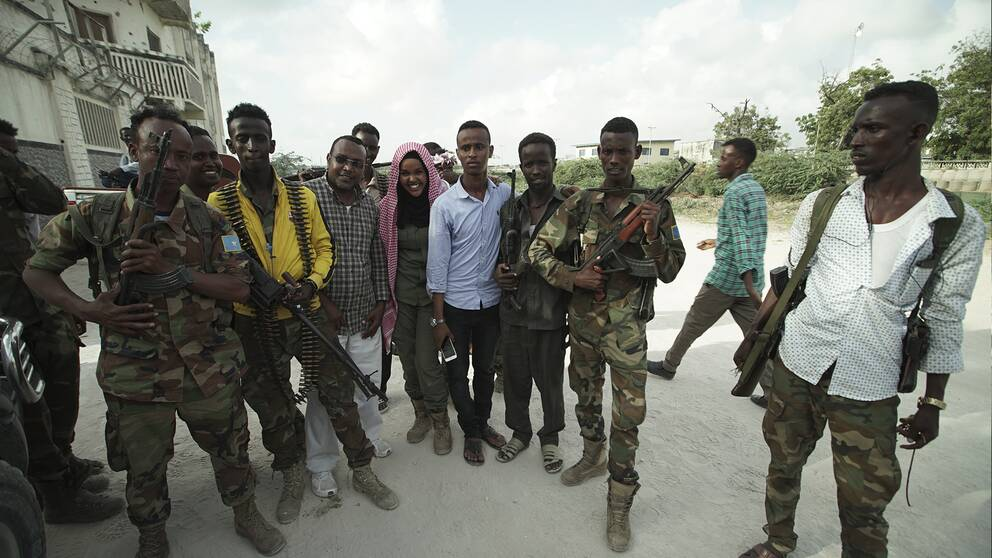 25-åriga Iman Elman är armékapten över regeringssoldaterna