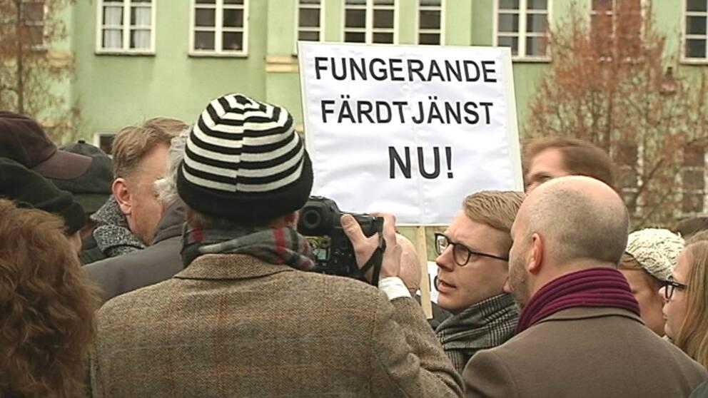 Demonstration for battre fardtjanst