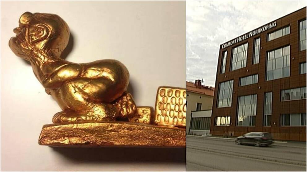 prisstatyetten för Kasper Kalkon priset och Comfort Hotell i Norrköping