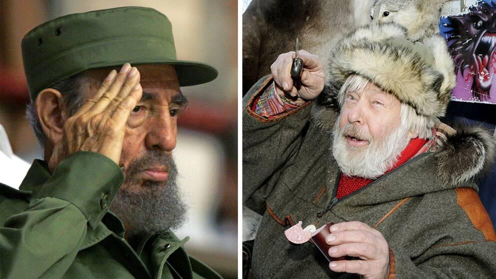Fidel Castro skakade hand med Vild-Hasse