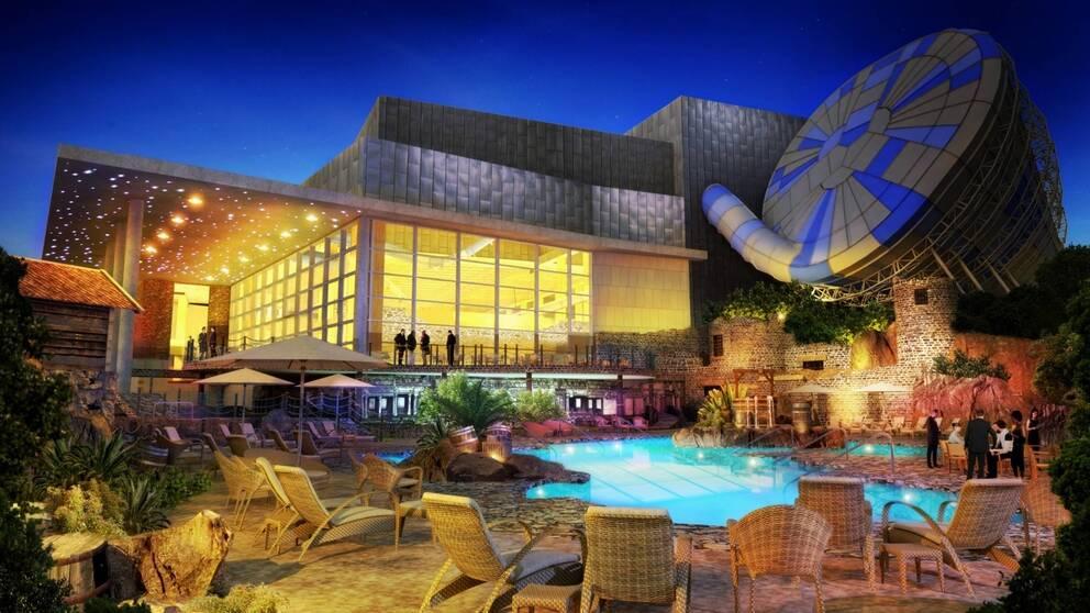 Vattenparken ska kunna ta emot 2800 gäster samtidigt.
