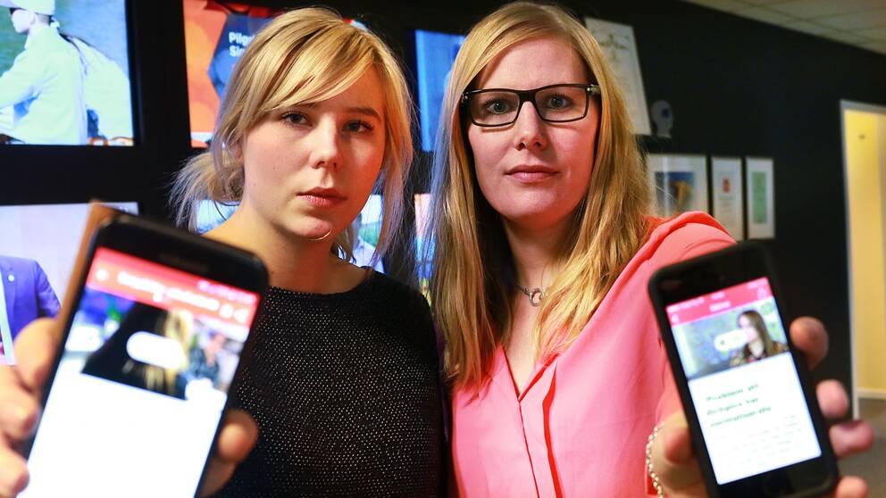 Reportrarna Sofie Lind och Anna Sjödin tackar för reaktionerna för reportagen om dickpics.