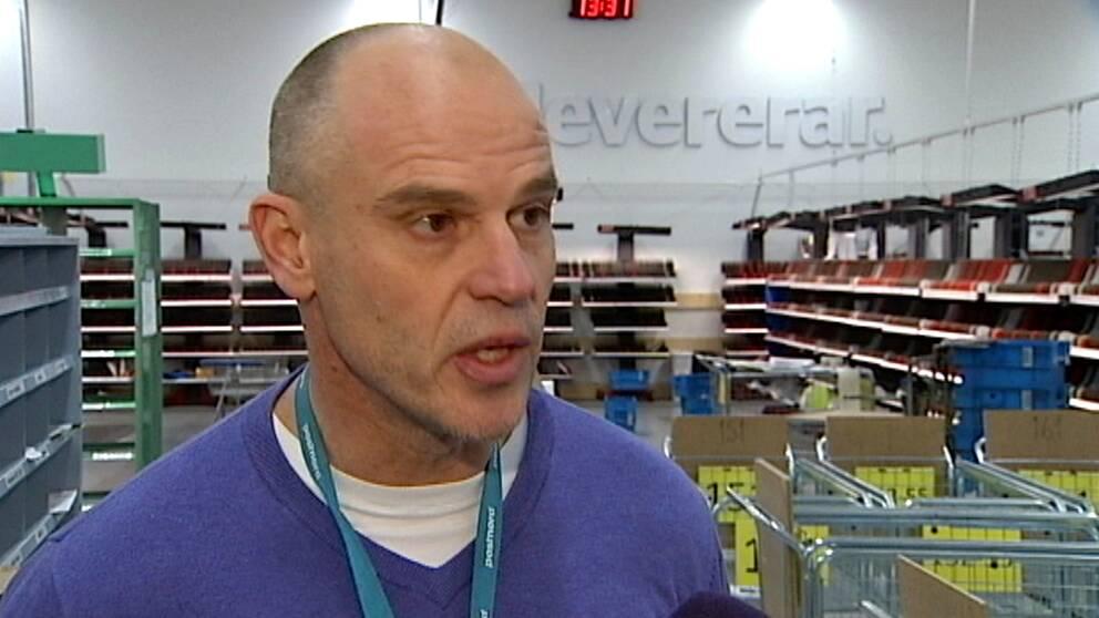 Hans Bergander är chef för Postnords terminal i Östersund.