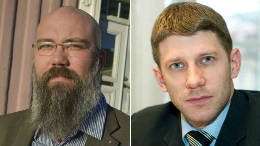 Joakim Järrebring (S) och Daniel Filipsson (M).