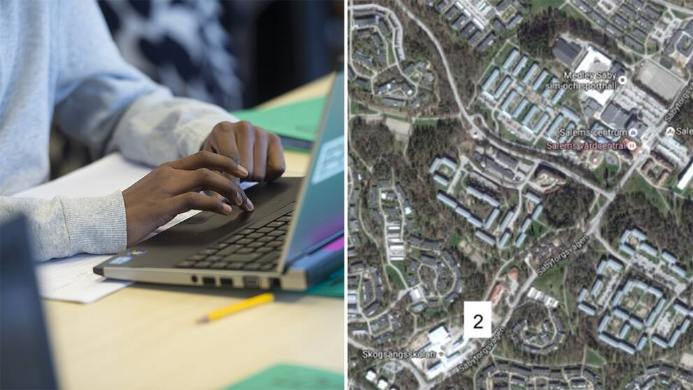 Genrebild till vänster och en karta över Salem till höger.