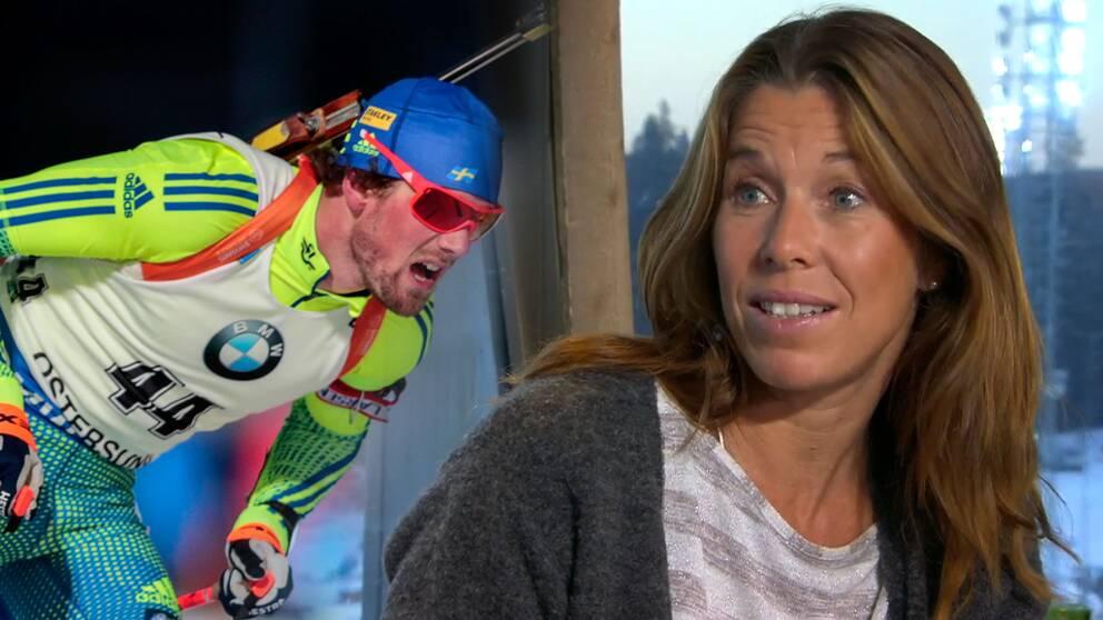 """""""Nu är han tillbaka"""", säger Magdalena Forsberg om Fredrik Lindström."""