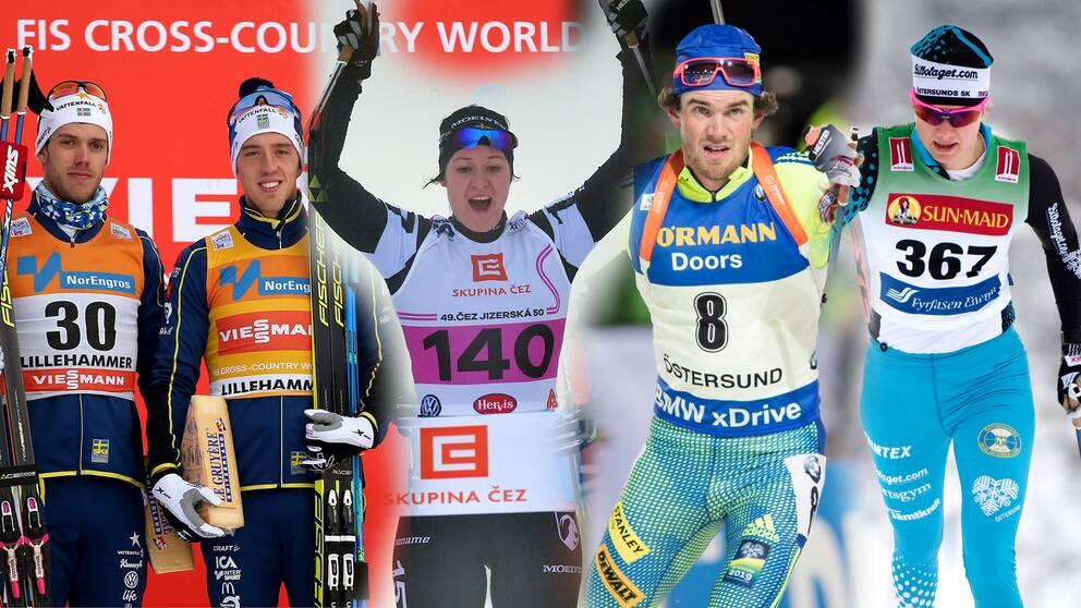 Det blev en svensk superlördag ute i skidspåren.
