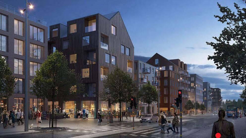 Nya bostäder i Salem centrum.