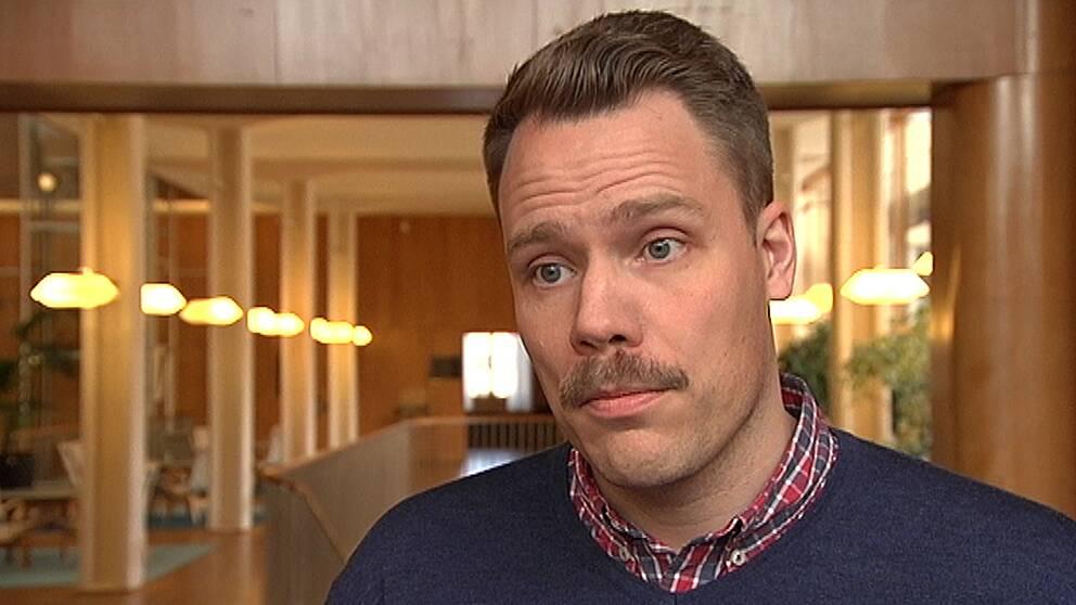 Daniel Bernmar, Vänsterpartiets gruppledare i Göteborg.