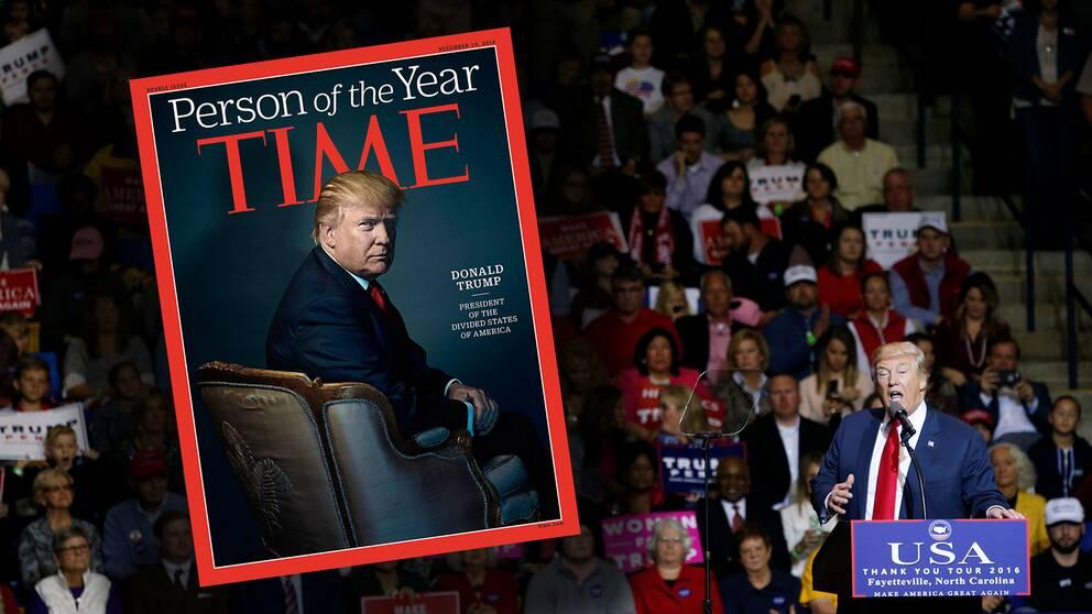 Trump på framsidan av Time magazine.