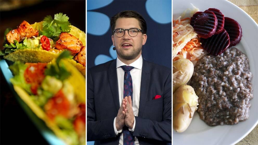 Tacos, Jimmie Åkesson och pölsa.