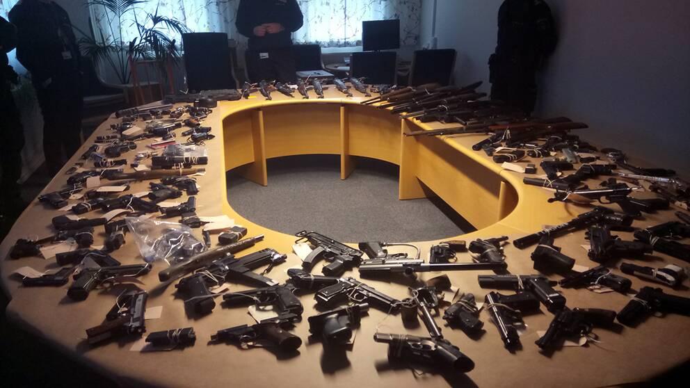 600 vapen hittas varje år i Malmö.