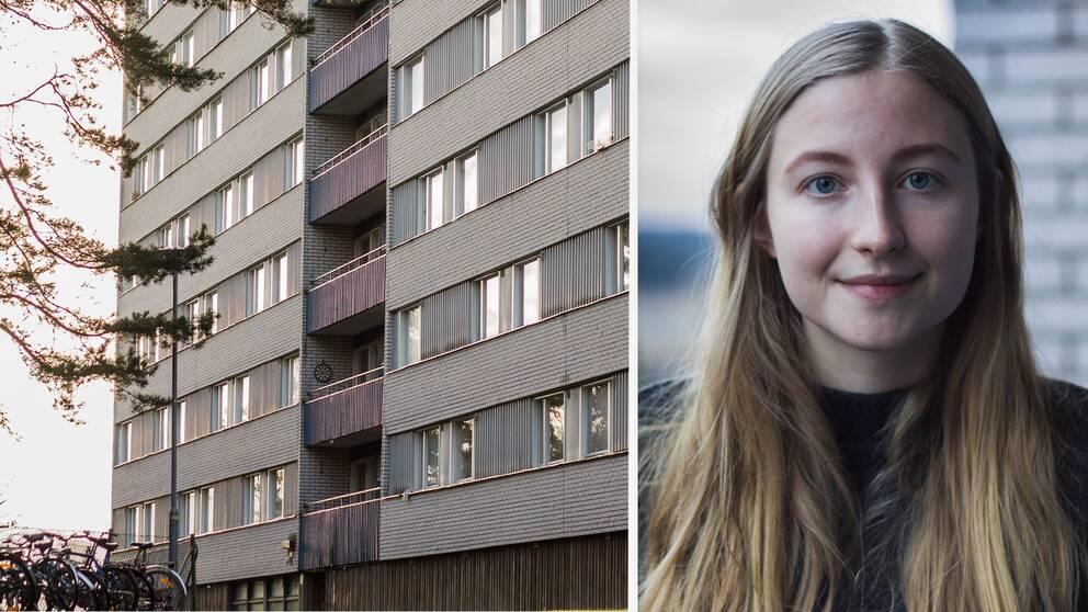 Alice Ljungberg är en av de studenter som tröttnat på hyreshöjningarna.