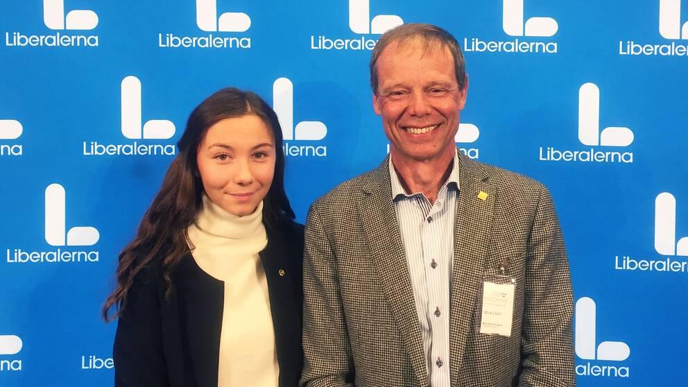 Eleonora Svanberg, gymnasieelev från Linköping, som vill bli första svensk på mars, och Christer Fuglesang.