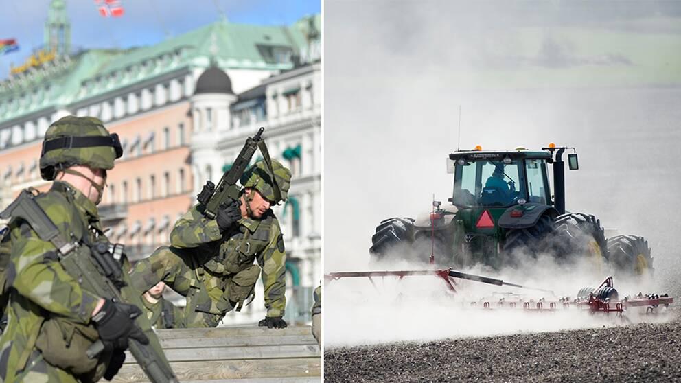 Matbristen skulle bli akut om en total avspärrning av Sverige skulle inträffa.