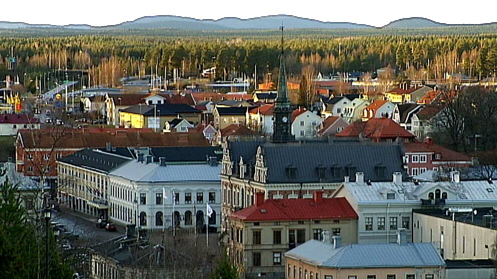 En bild över delar av Söderhamn.