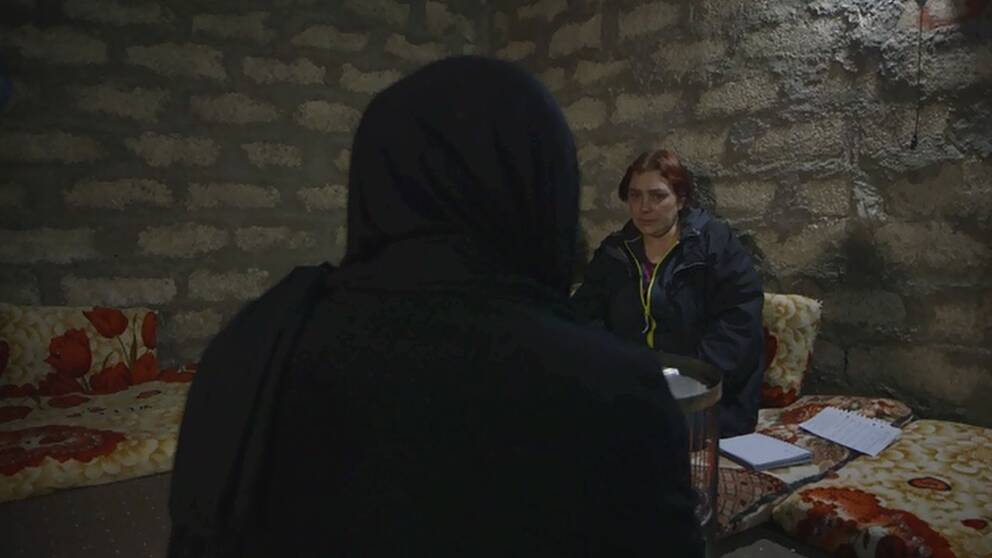 Den yazidiska flickan och Anki.