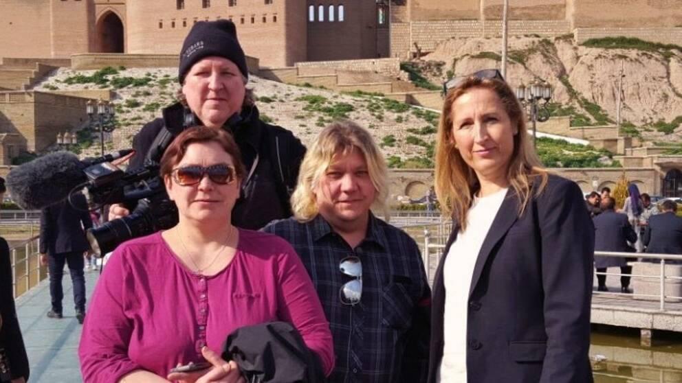 Filmaren Bengt Löfgren, journalisten Sanna Klinghoffer, Anki och Pasi