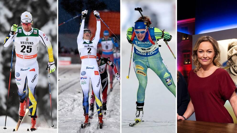 Vinterstudion sänder världscuptävlingar i längd, alpint, skidskytte och skicross. Årets första stafett i längd avgörs i La Clusaz.