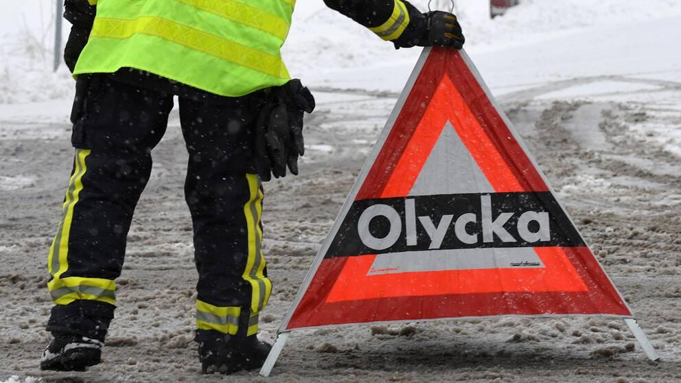 Olycka orsakade köer i trafiken