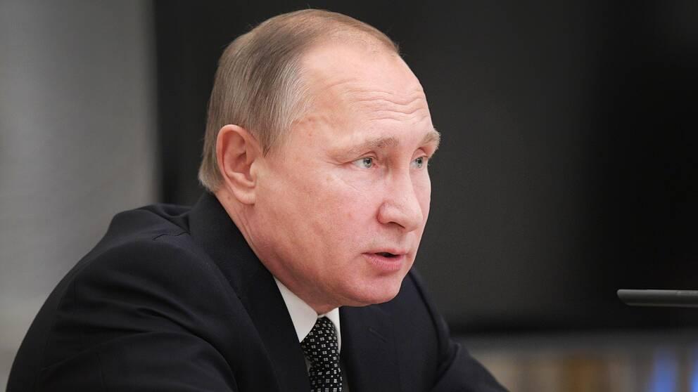 Rysslands president, Vladimir Putin.