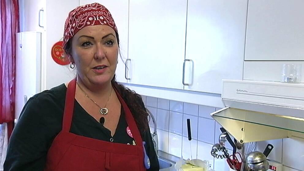 Jenny Jönsson tycker att det är viktigt att maten ser trevlig ut.