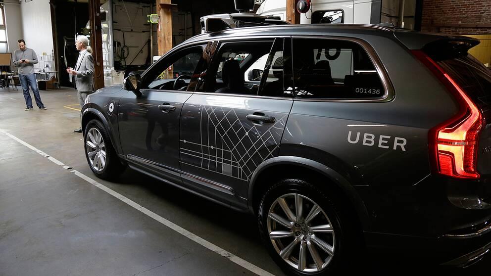 UberEn av de Volvo XC 90 som ingår i Ubers testflotta i San Fransisco.