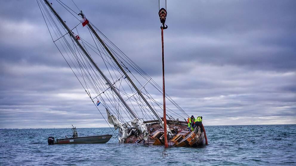 Fartyg gick pa grund utanfor falsterbo