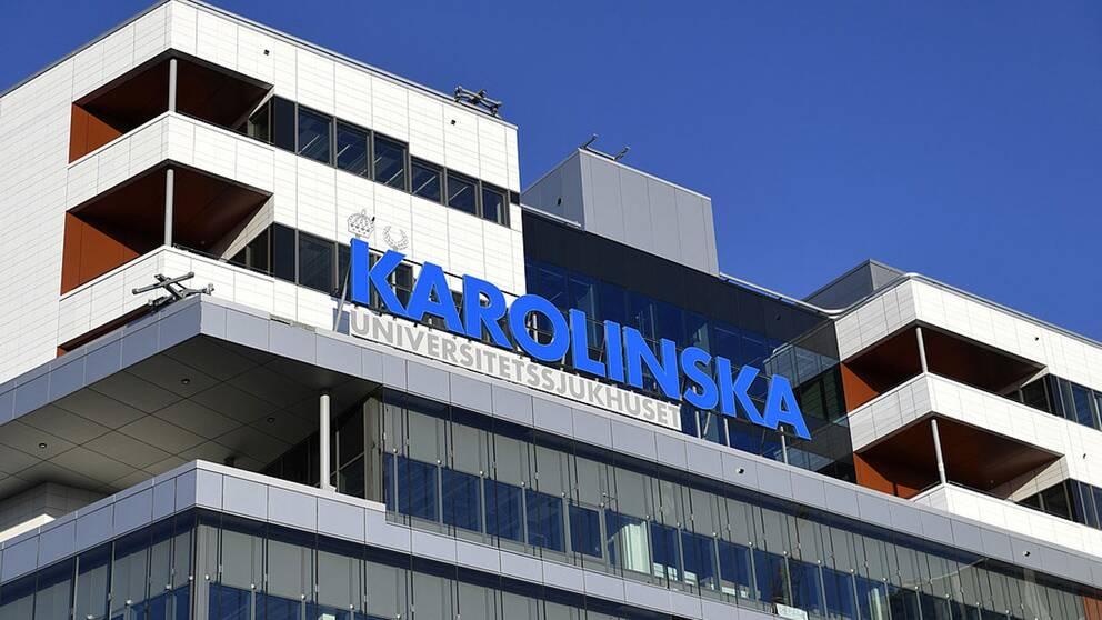 Fasadbild på nya Karolinska sjukhuset i Solna.