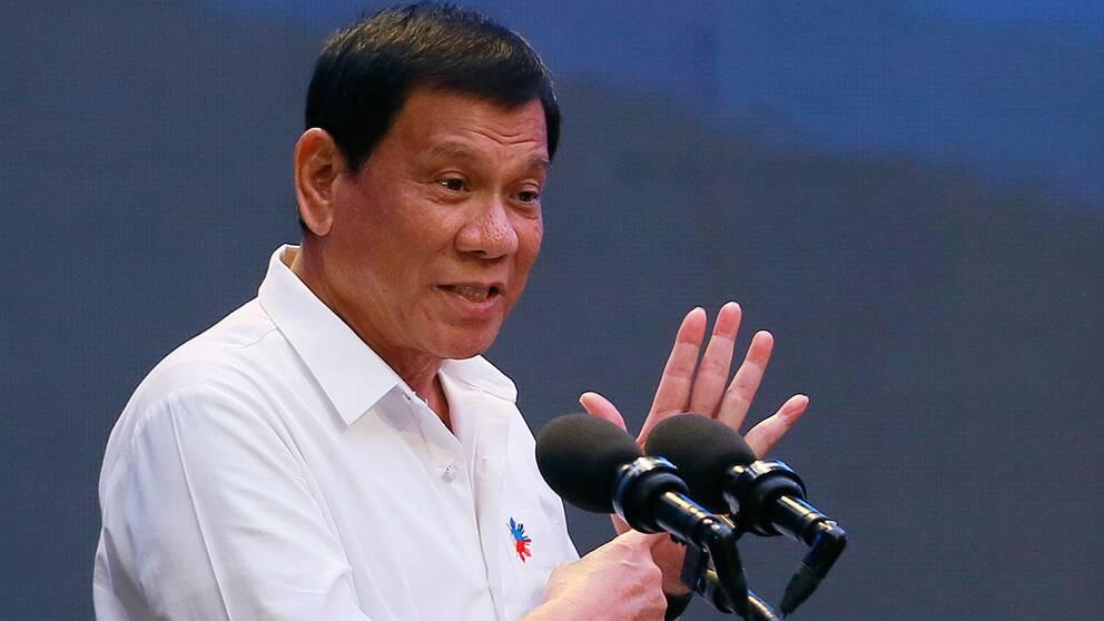 Filippinernas president Rodrigo Duterte