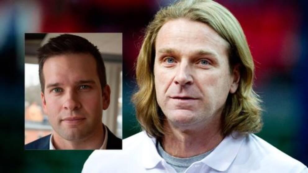 Idrottsminister Gabriel Wikström och Patrik Sjöberg.