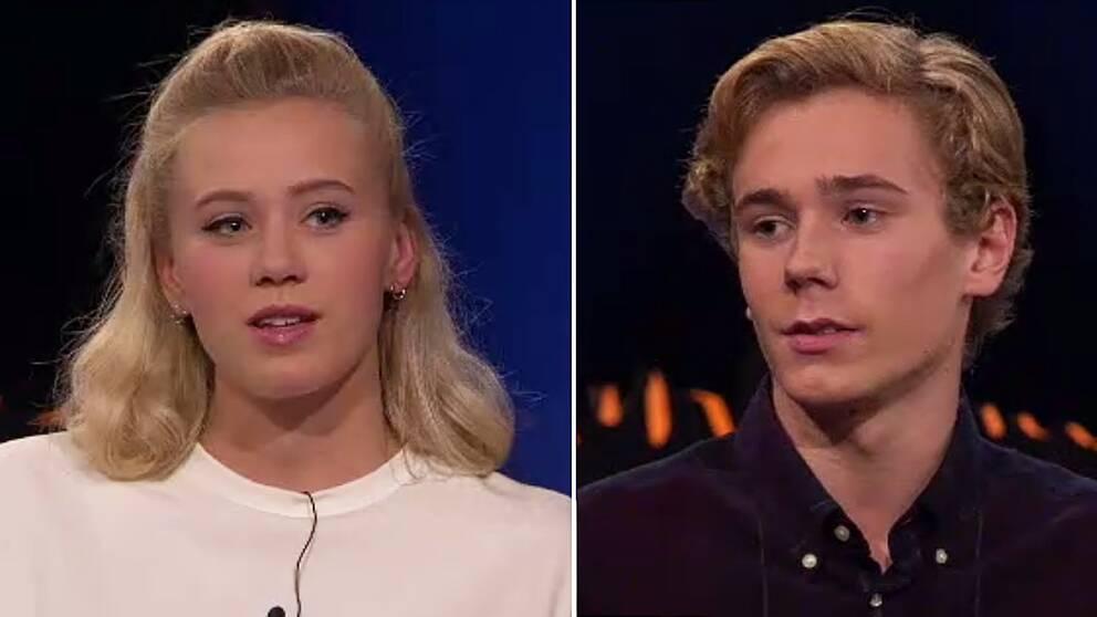 Josefine Frida Pettersen, som spelar Noora, och Tarjei Sandvik Moe, som spelar Isak.