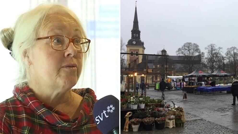 Marita Lärnestad. Moderaterna. Stora Torget. Södertälje.