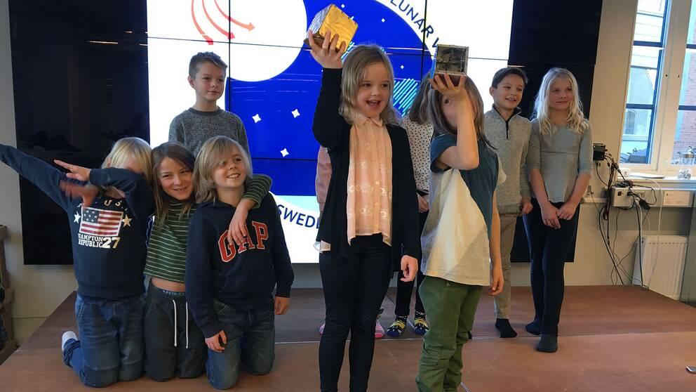Rymdlåda, klass 3, Stöcksjöskolan, Space Science Sweden