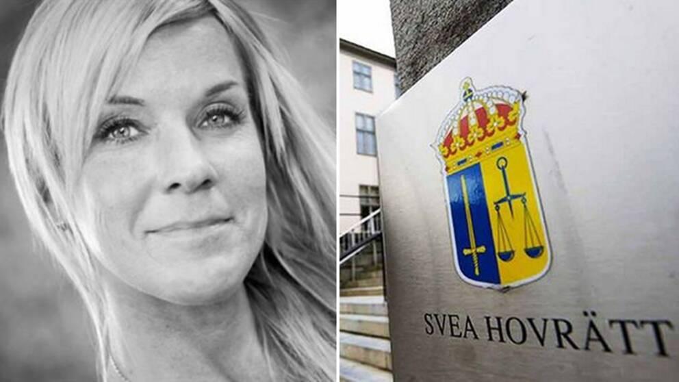 Lotta och en bild på Svea hovrätt.