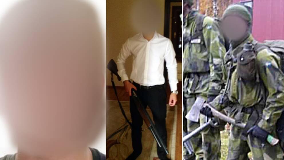 21-åringen hade bland annat väktarutbildning och fick träning av Försvarsmakten.