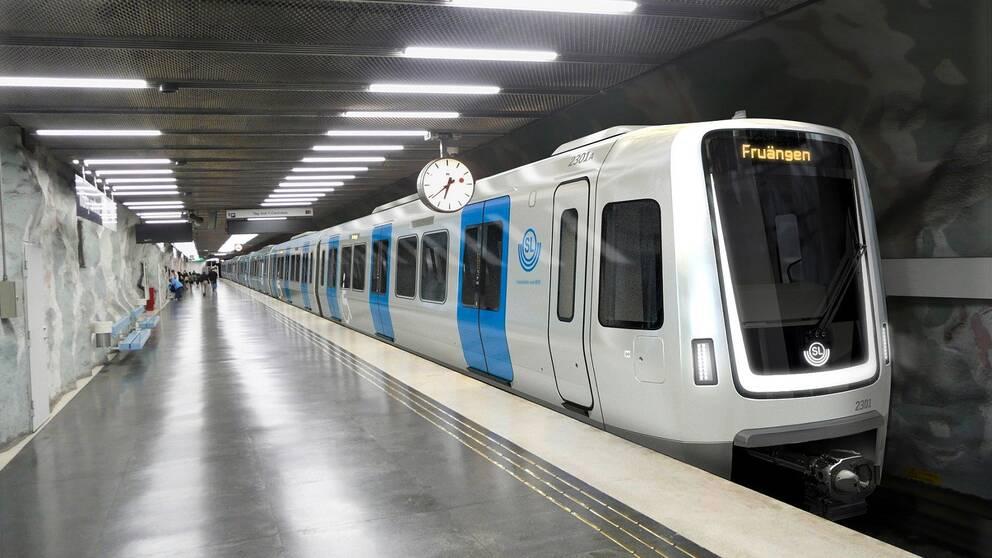 Såhär kommer de nya tågen se ut som ska trafikera tunnelbanans röda linje i Stockholm.