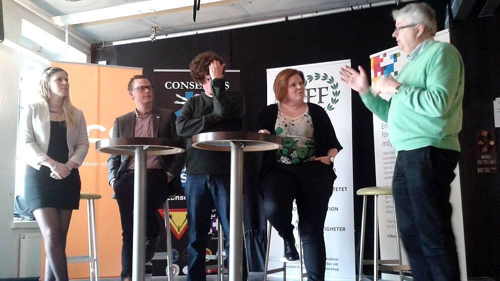 Presskonferens kårhuset Trappan Årets studentstad Norrköping