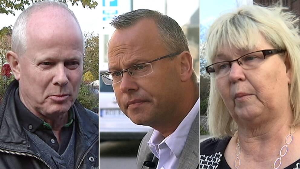 Pär Palmgren (M), Patrik Jönsson (SD) och Lena Wallentheim (S).